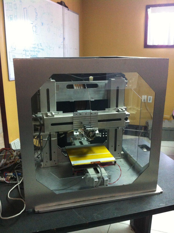Interior de la impresora 3D