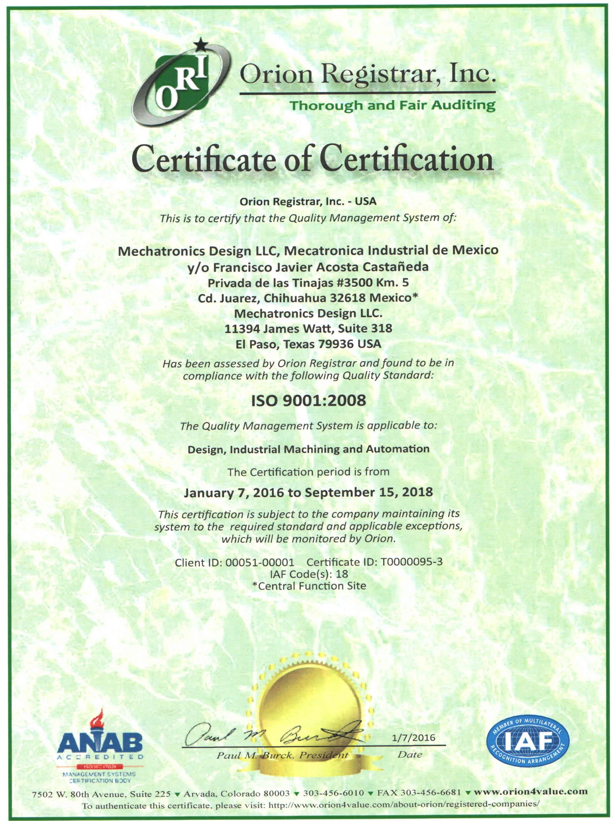 Certificado de ISO 9001 2008_2016-2018